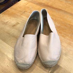 Shoes - BLUSH LEATHER ESPADRILLES